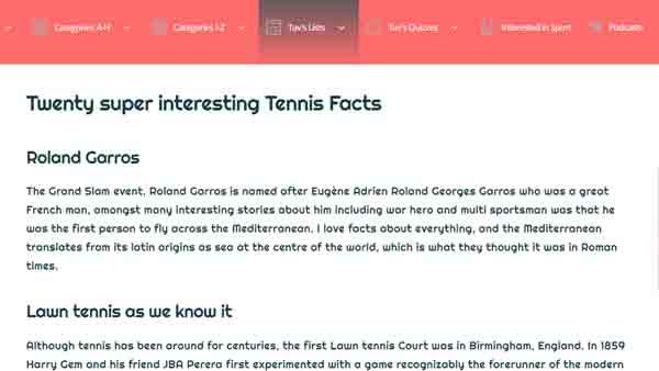 interesting tennis facts
