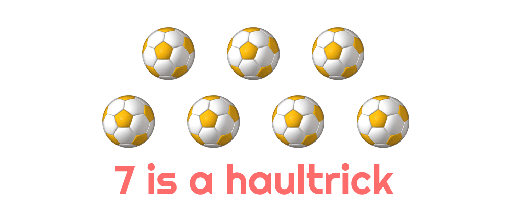 a haultrick is 7 goals in a game