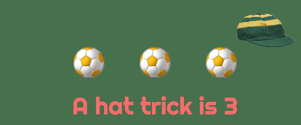 scoring three goals in football